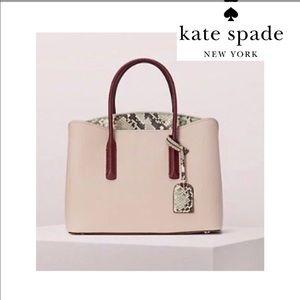 Kate Spade New York Margaux embossed snake satchel